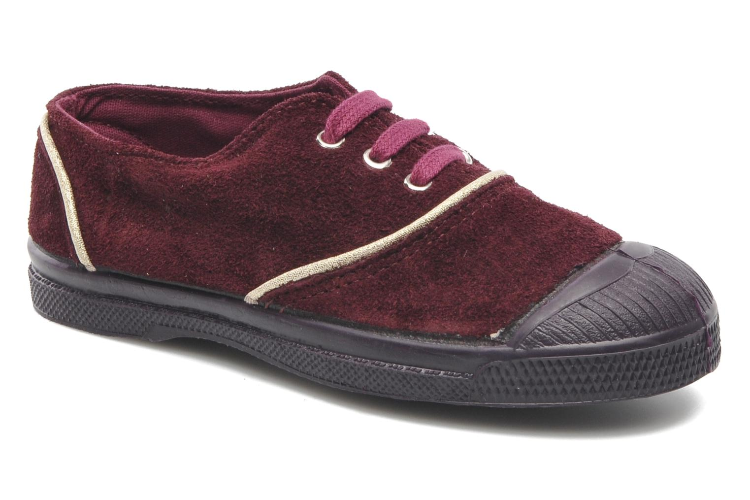 Trainers Bensimon Tennis Suedpiping E Burgundy detailed view/ Pair view