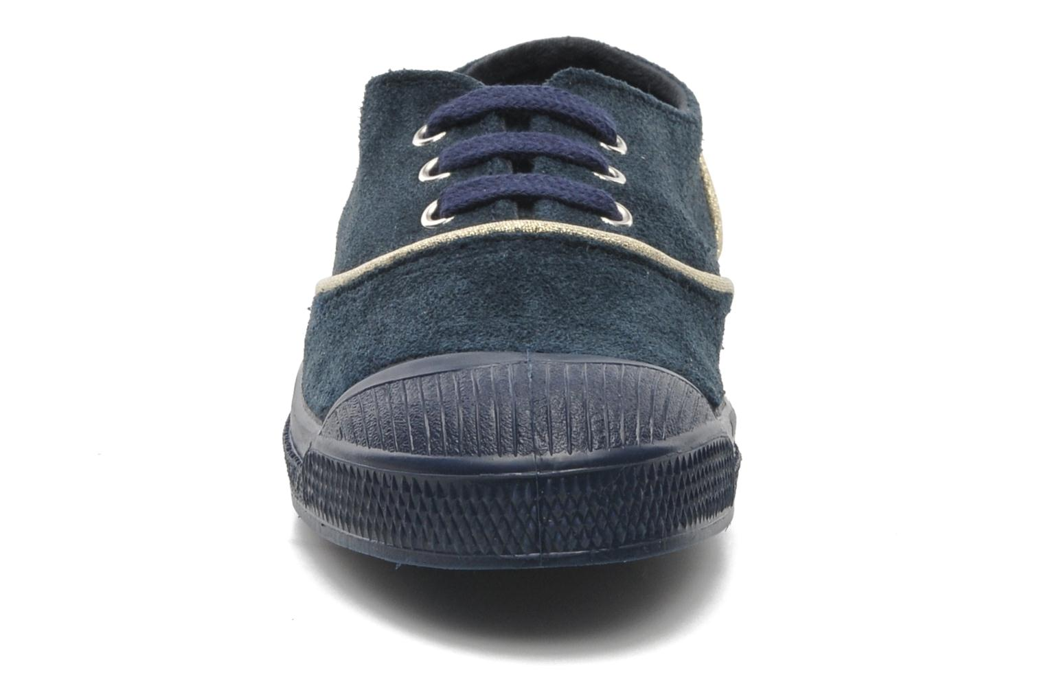 Trainers Bensimon Tennis Suedpiping E Blue model view