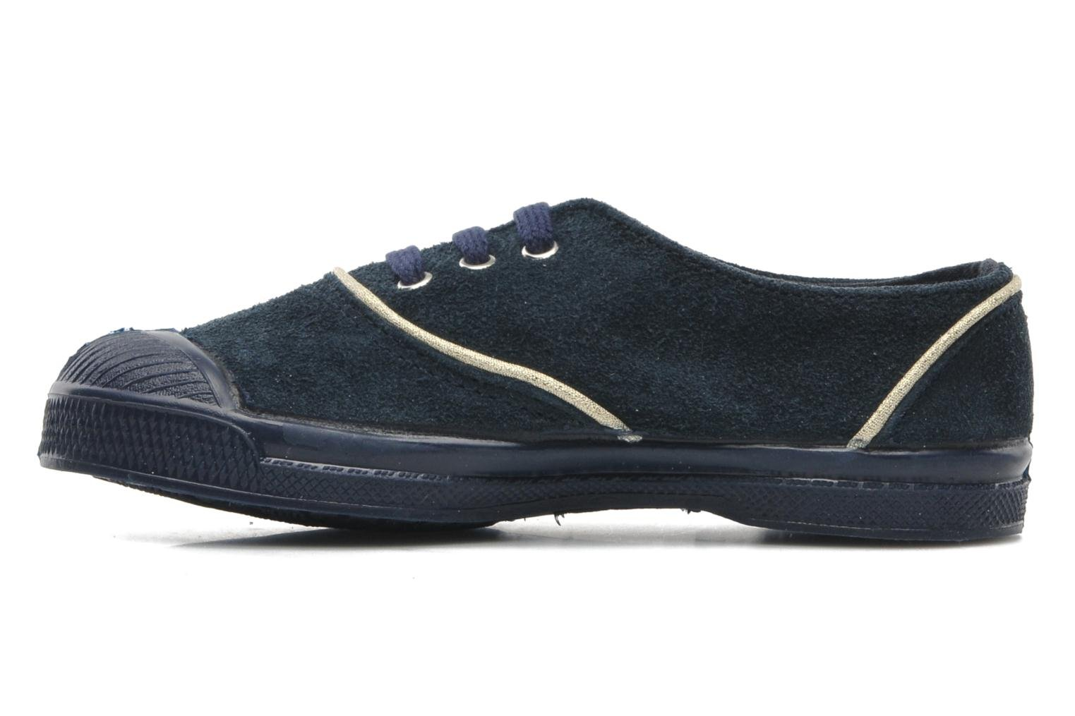 Trainers Bensimon Tennis Suedpiping E Blue front view