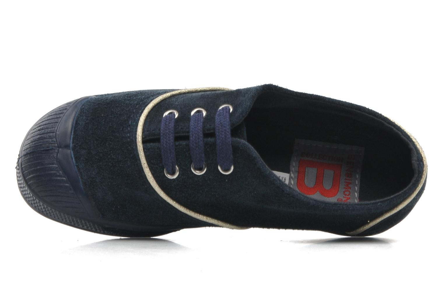 Trainers Bensimon Tennis Suedpiping E Blue view from the left
