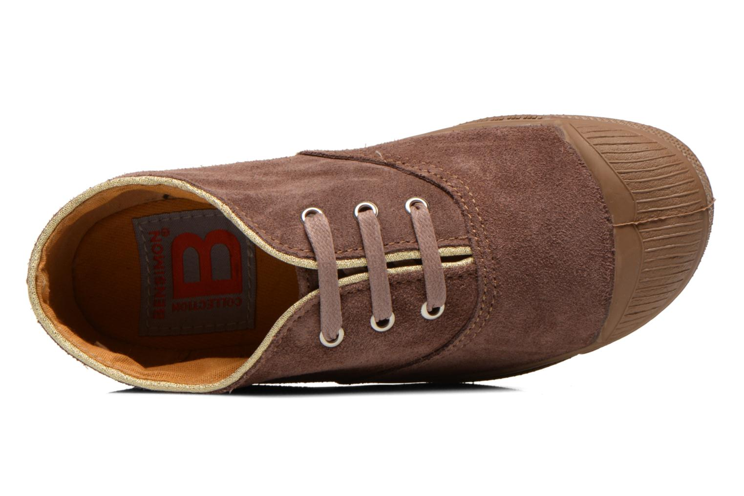 Trainers Bensimon Tennis Suedpiping E Brown view from the left