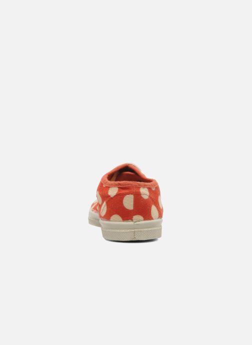 Sneakers Bensimon Tennis Velours Pois E Arancione immagine destra