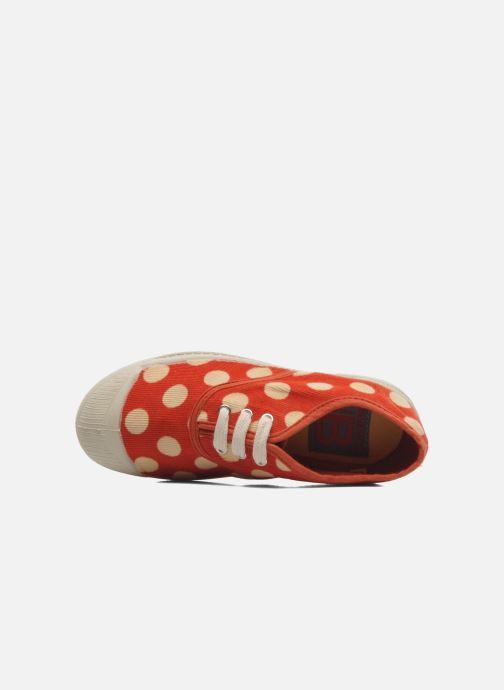 Sneakers Bensimon Tennis Velours Pois E Arancione immagine sinistra