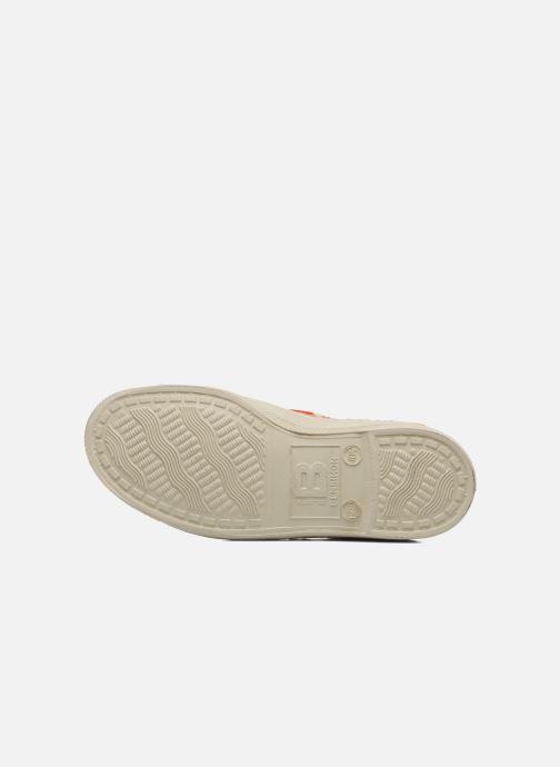 Sneakers Bensimon Tennis Velours Pois E Arancione immagine dall'alto