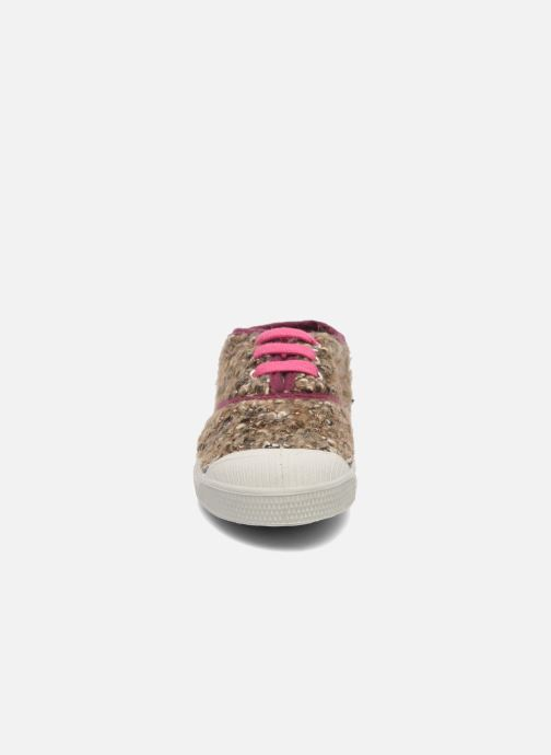 Baskets Bensimon Tennis Tweedy E Marron vue portées chaussures