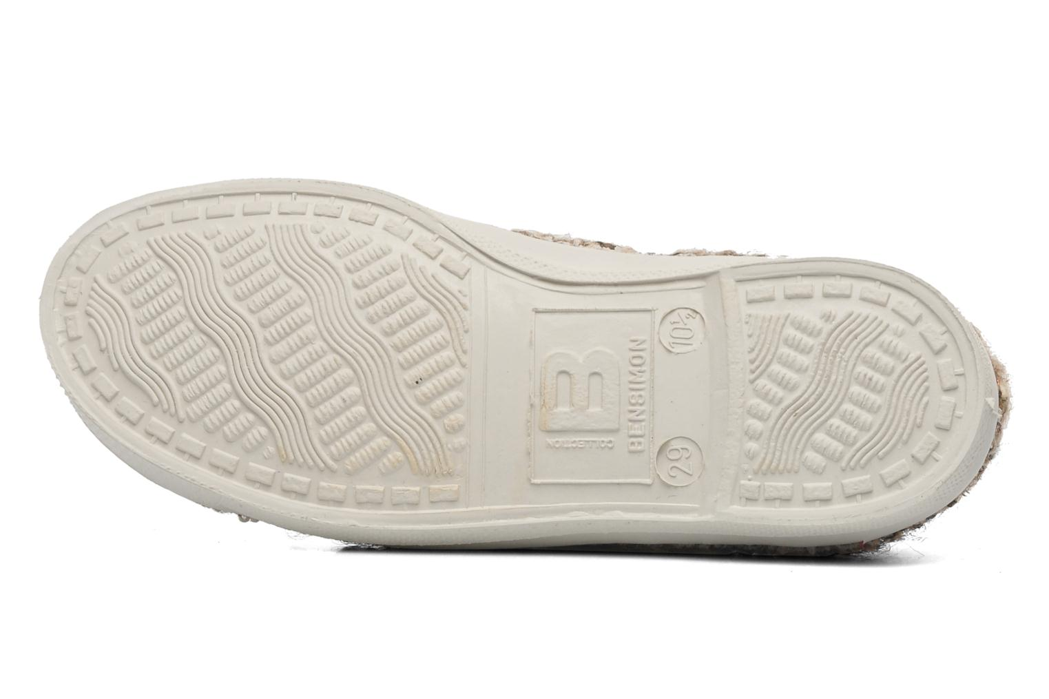 Trainers Bensimon Tennis Tweedy E Brown view from above