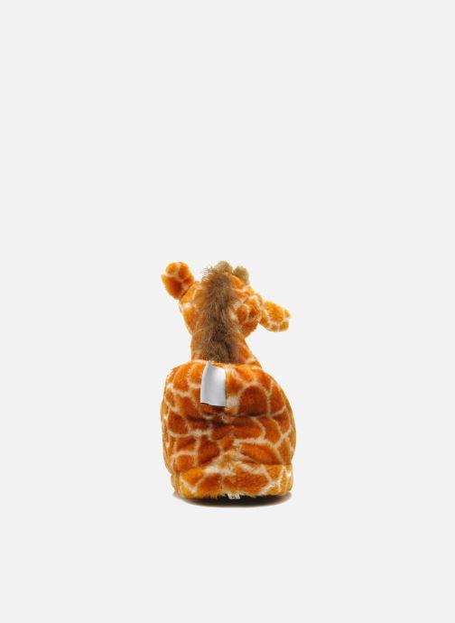 Pantuflas Sleeperz Giraffes Marrón vista lateral derecha