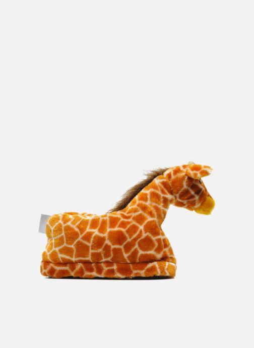 Pantuflas Sleeperz Giraffes Marrón vistra trasera