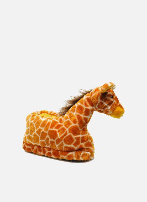 Chaussons Sleeperz Giraffes Marron vue détail/paire