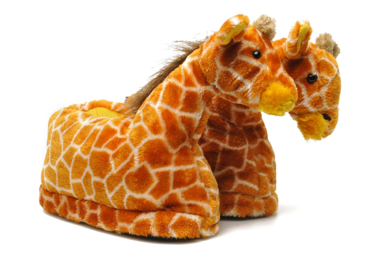 Slippers Sleeperz Giraffes Brown 3/4 view