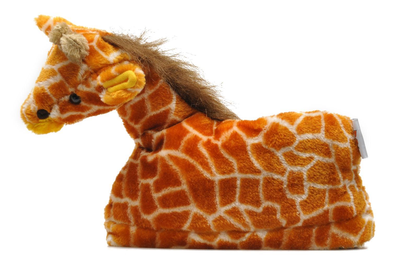 Slippers Sleeperz Giraffes Brown front view
