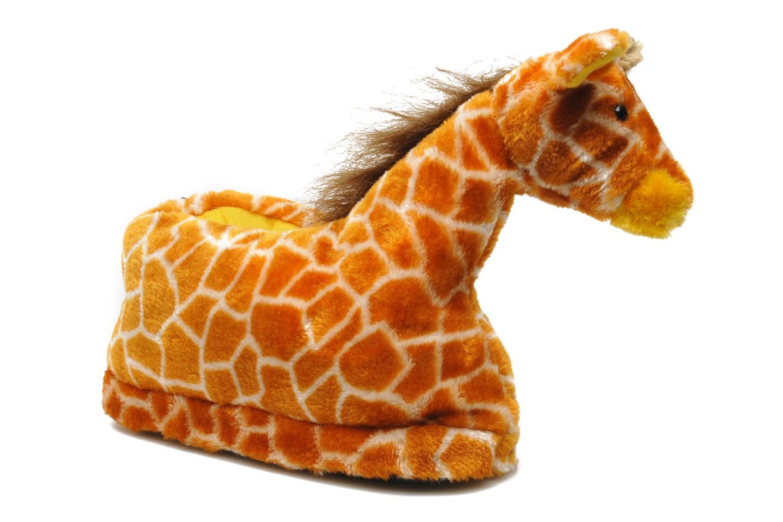 Slippers Sleeperz Giraffes Brown detailed view/ Pair view