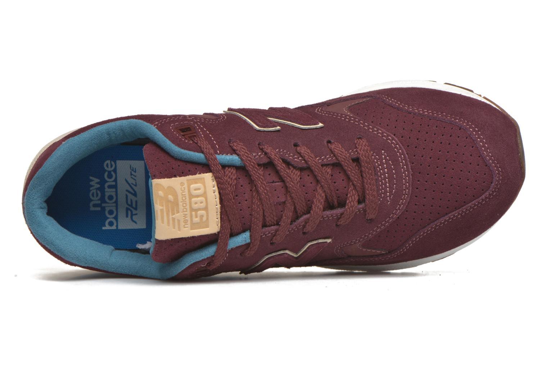 Baskets New Balance MRT580 Bordeaux vue gauche