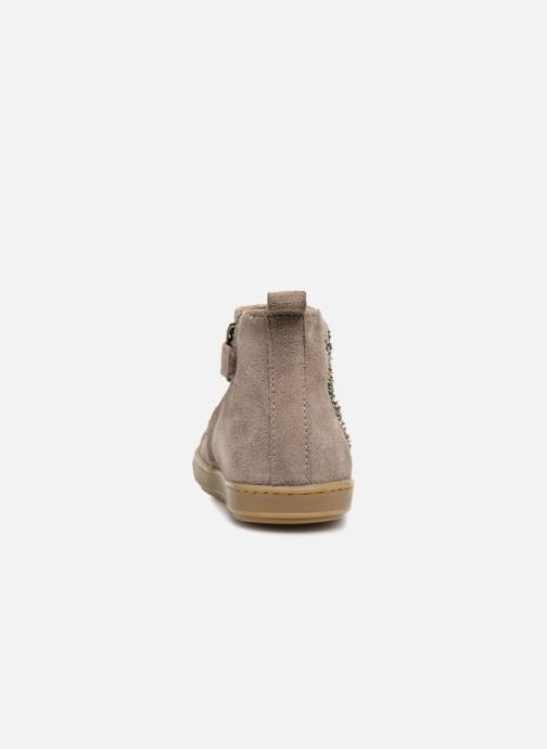 Ankle boots Shoo Pom Bouba Apple Beige view from the right