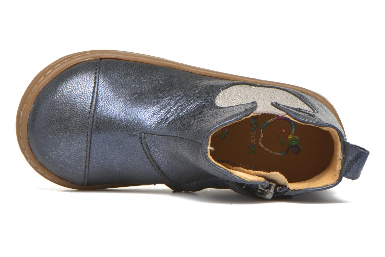 Botines  Shoo Pom Bouba Apple Azul vista lateral izquierda