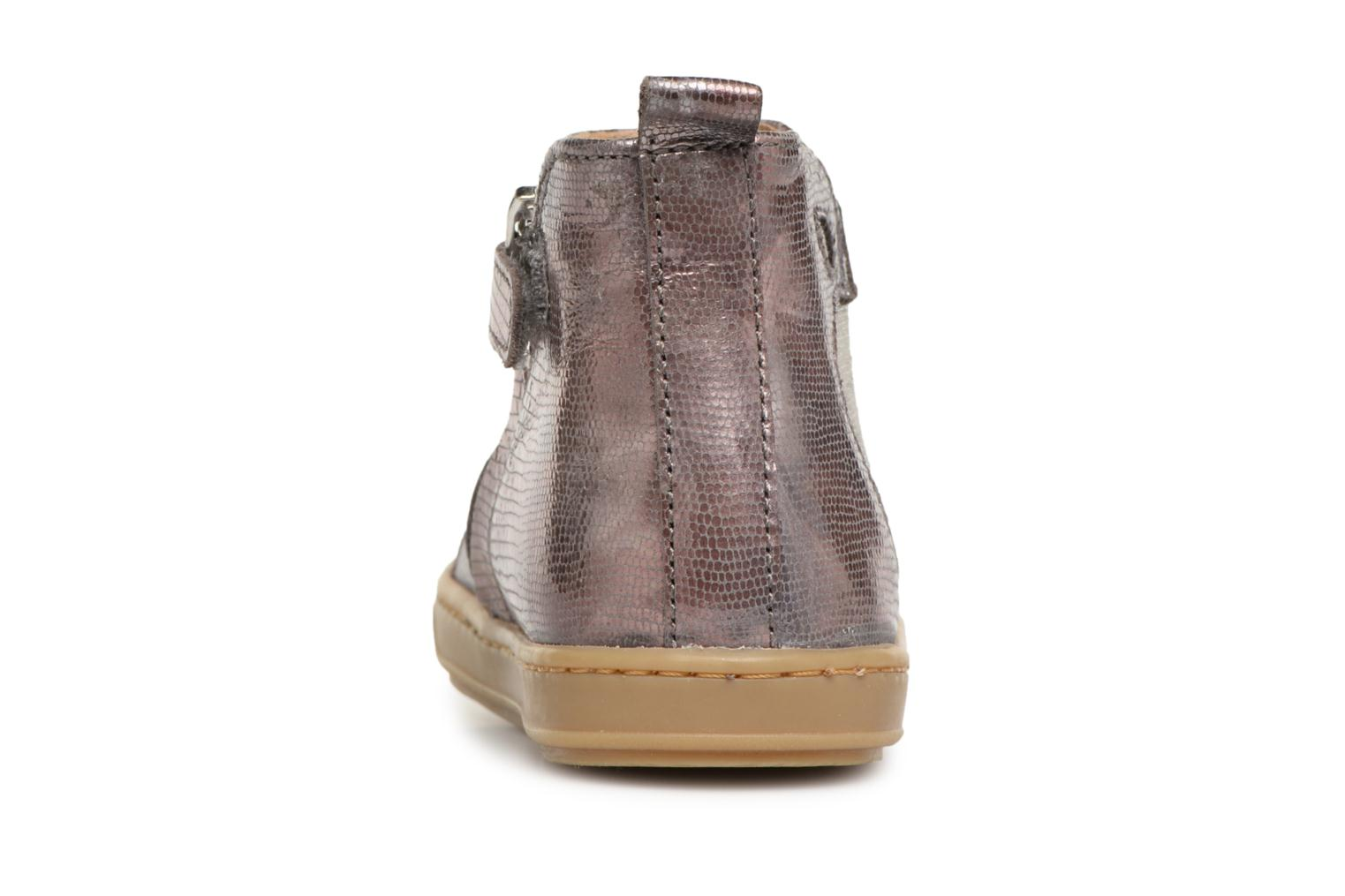 Ankle boots Shoo Pom Bouba Apple Silver view from the right