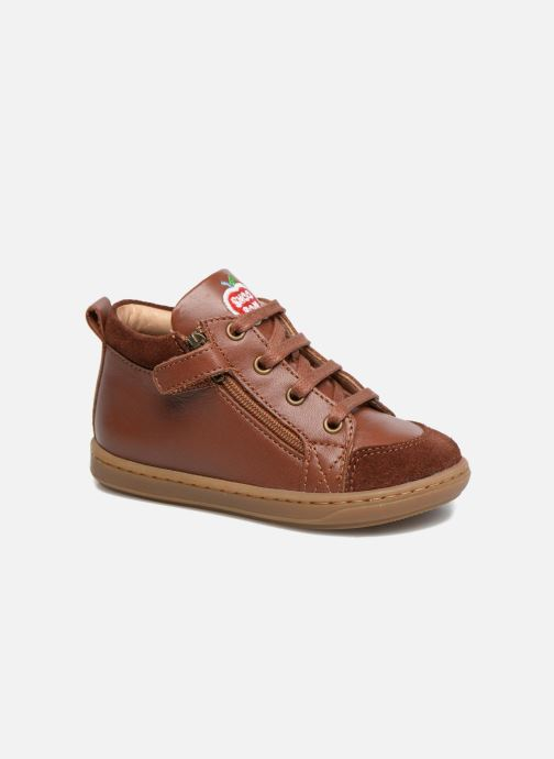 Bottines et boots Shoo Pom Bouba Bi Zip Marron vue détail/paire