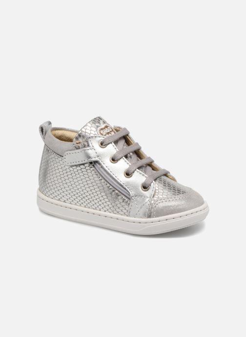 Bottines et boots Shoo Pom Bouba Bi Zip Gris vue détail/paire