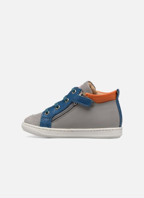 Ankle boots Shoo Pom Bouba Bi Zip Grey front view