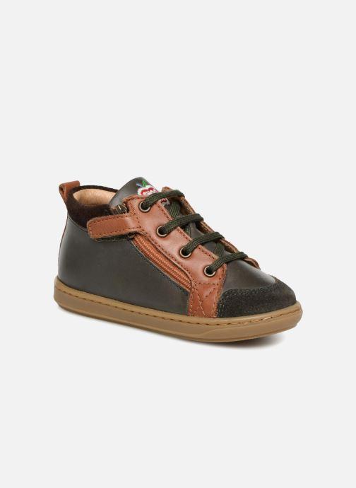 Bottines et boots Shoo Pom Bouba Bi Zip Vert vue détail/paire
