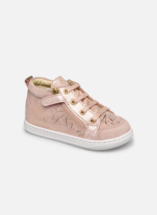 Bottines et boots Shoo Pom Bouba Bi Zip Rose vue détail/paire