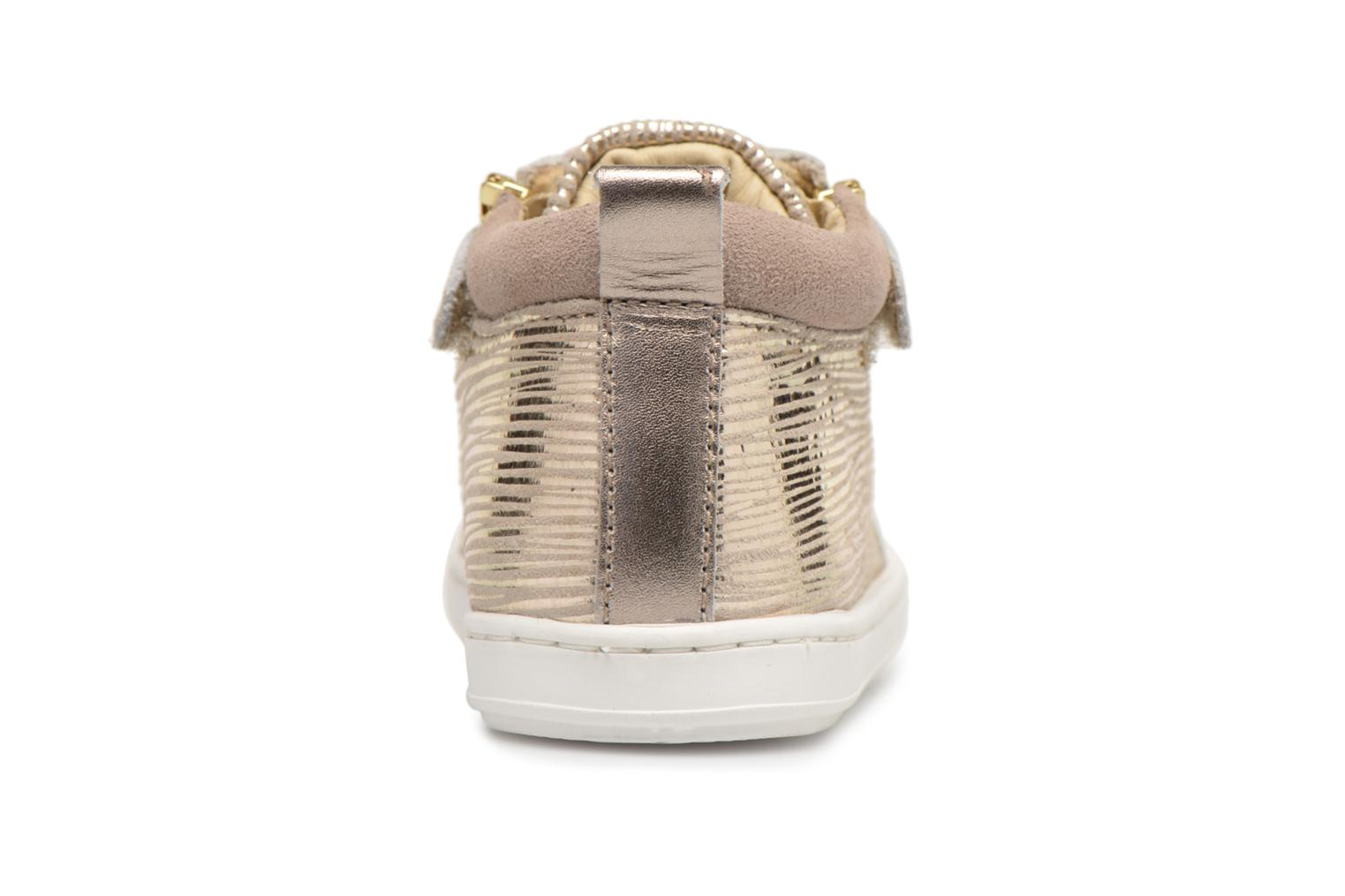 Ankle boots Shoo Pom Bouba Bi Zip Beige view from the right