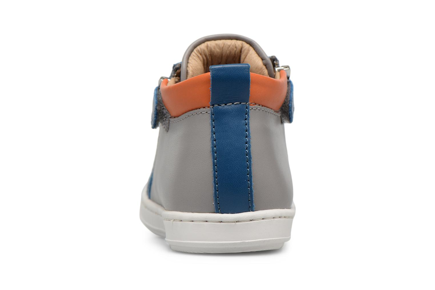 Ankle boots Shoo Pom Bouba Bi Zip Grey view from the right