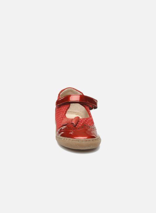 Ballerines Shoo Pom MINI MILA KNOT Rouge vue portées chaussures