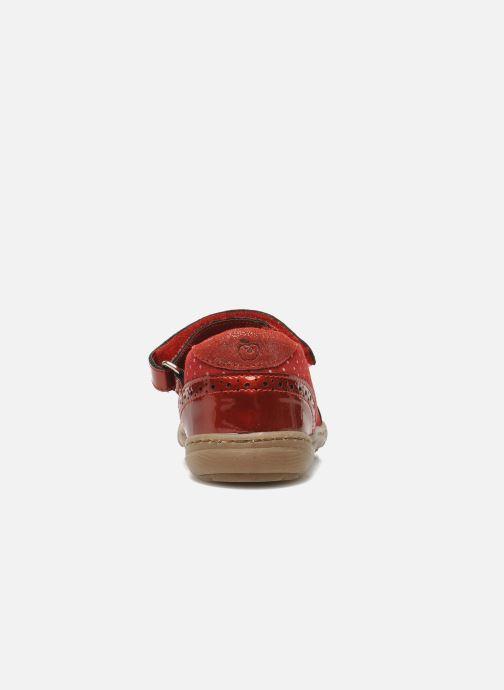 Bailarinas Shoo Pom MINI MILA KNOT Rojo vista lateral derecha