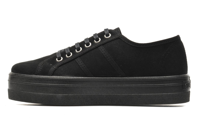 Zapatos con cordones Victoria Blucher Antelina Plataforma Negro vista de frente