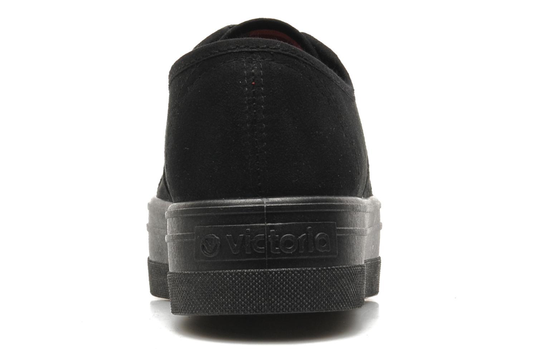Zapatos con cordones Victoria Blucher Antelina Plataforma Negro vista lateral derecha