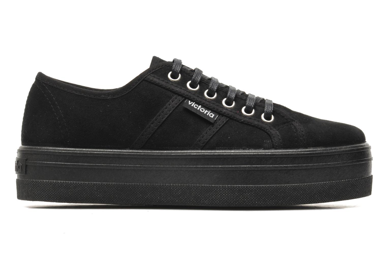 Chaussures à lacets Victoria Blucher Antelina Plataforma Noir vue derrière