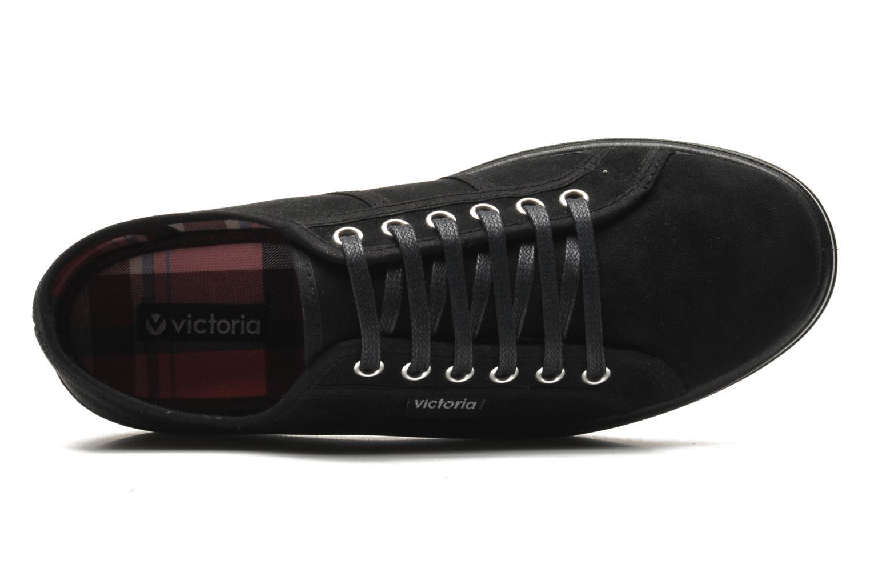 Zapatos con cordones Victoria Blucher Antelina Plataforma Negro vista lateral izquierda