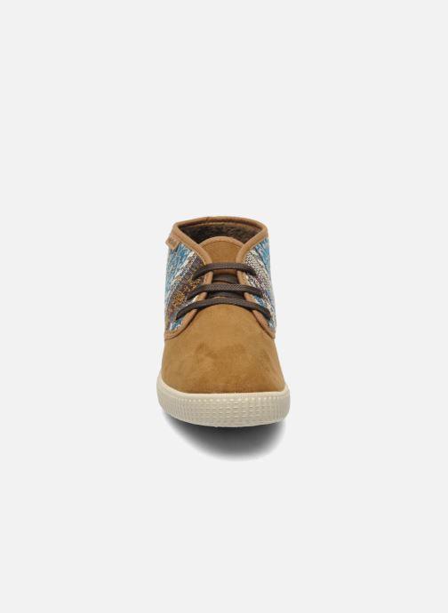 Baskets Victoria Safari Tejidos Etnicos Marron vue portées chaussures