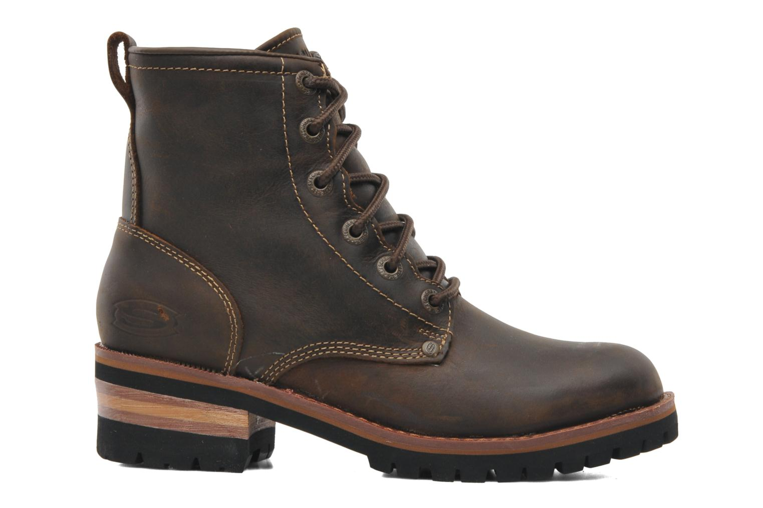 Ankle boots Skechers Laramie 2 47808 Brown back view