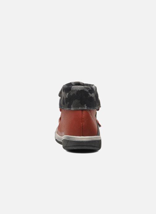 Zapatos con velcro Babybotte ARTIZOU Rojo vista lateral derecha