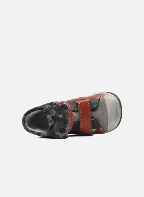 Zapatos con velcro Babybotte ARTIZOU Rojo vista lateral izquierda