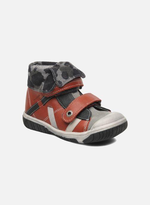 Zapatos con velcro Babybotte ARTIZOU Rojo vista de detalle / par