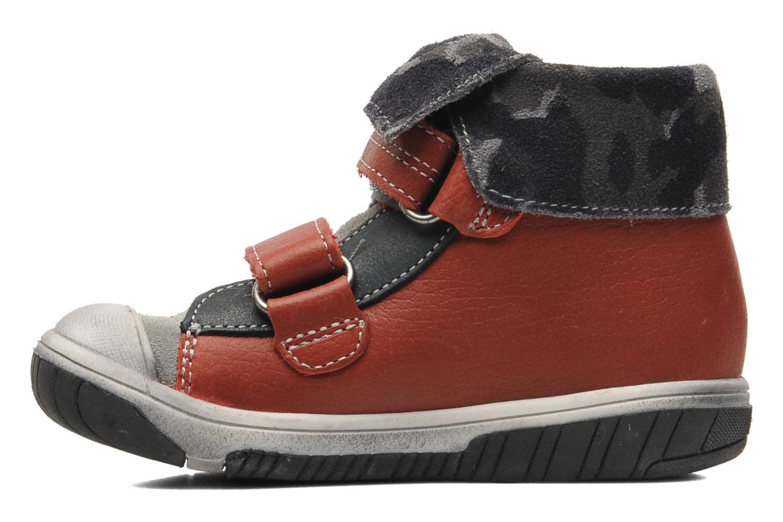 Chaussures à scratch Babybotte ARTIZOU Rouge vue face