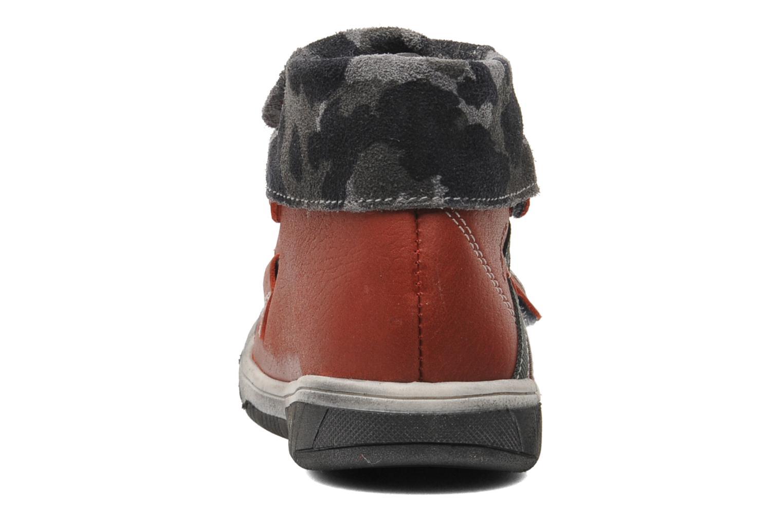 Chaussures à scratch Babybotte ARTIZOU Rouge vue droite