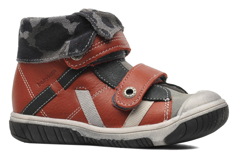 Chaussures à scratch Babybotte ARTIZOU Rouge vue derrière