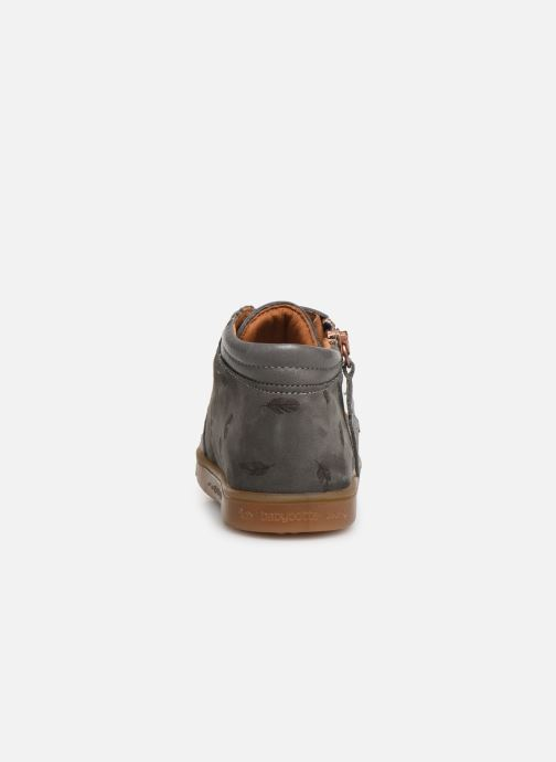 Ankle boots Babybotte ALOUETTE Grey view from the right