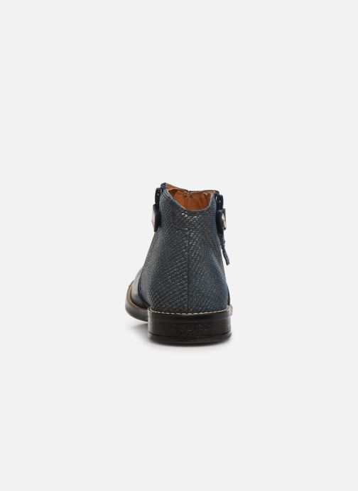 Ankle boots Babybotte Kenza Blue view from the right