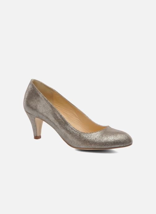 High heels Jonak Issine Bronze and Gold detailed view/ Pair view