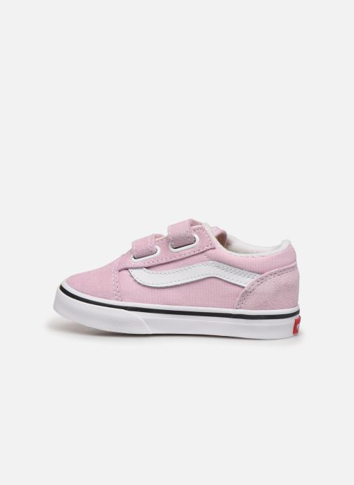 Baskets Vans Old Skool V BB Rose vue face