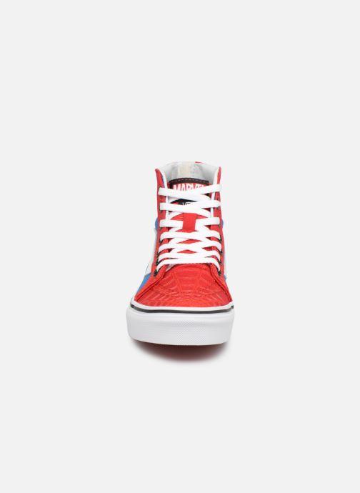Sneaker Vans SK8-Hi Zip rot schuhe getragen