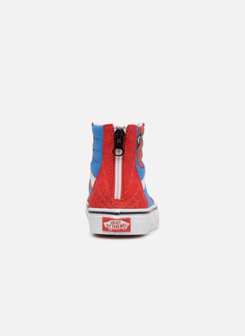Baskets Vans SK8-Hi Zip Rouge vue droite