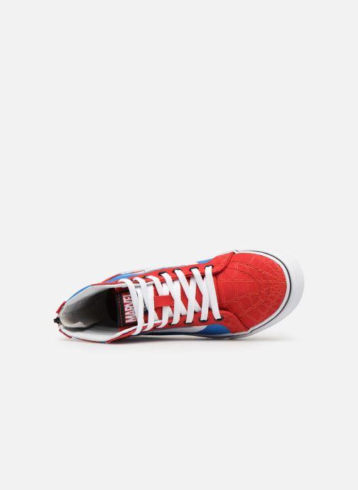 Baskets Vans SK8-Hi Zip Rouge vue gauche