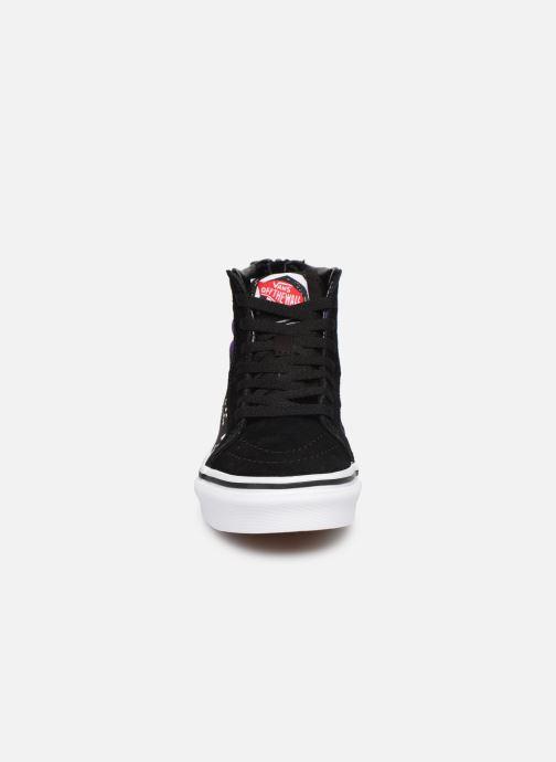 Sneaker Vans SK8-Hi Zip schwarz schuhe getragen