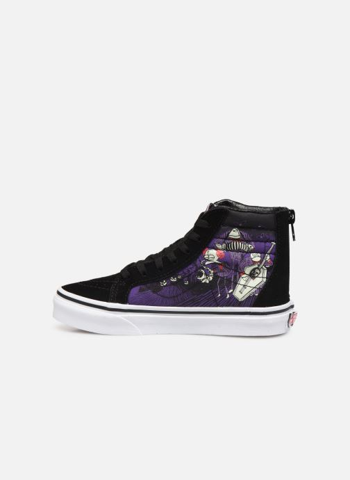 Sneaker Vans SK8-Hi Zip schwarz ansicht von vorne